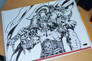 Garrosh Hellscream sketch by abe70280