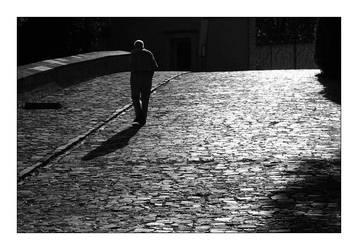 Prague - Strolling Gentleman by richardspence