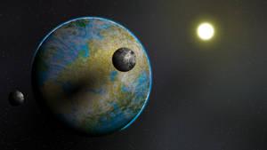 Planet artwork 3 by Anhrak