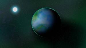 Planet artwork 4 - Bossitronia by Anhrak