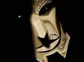 League of Legends - Jhin's Mask quickpaint by Anhrak