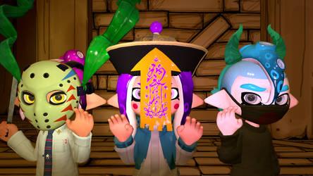 (SFM Splatoon) Splatoween by CartoonHiro56