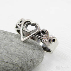 Amade Heart Silver Ring by ggagatka