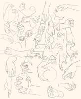 Hand studies by Thorsten-Denk