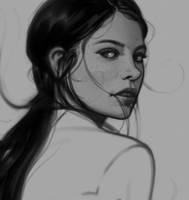 Portrait Sketch #6 by Thorsten-Denk