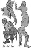 Sketch - Albert Dorne Studies by Thorsten-Denk