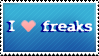 I so  love freaks by Pastillita