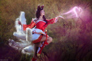 LOL - Ahri - A kiss for you! by MilliganVick