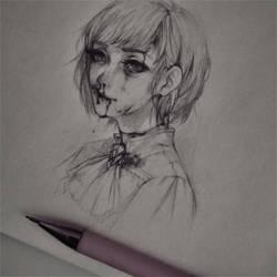 Sketch (Eli) by amiamalie