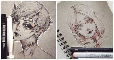 Strathmore sketches 03.2018 by amiamalie