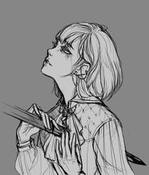 Sketch II (Eli) by amiamalie