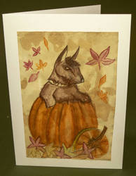 original hand made thanksgiving card with a Scotti by kerrycoftcrafts