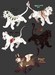 Flatsale: Halloween lions 2/5 OPEN by Spockirkcoy