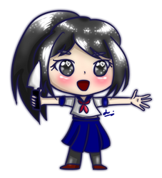 Chibi Yandere-chan by Lucariaura