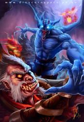 LYCAN VS NIGHTSTALKER by DIOSCUROS87