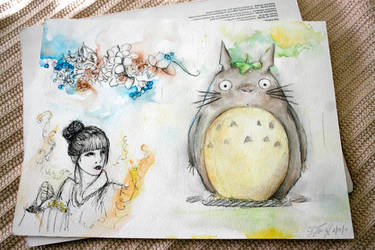 Totoro and franz by imsohip