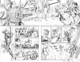 New Avengers Annual 3 p16and17 by mikemayhew