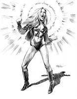 Black Canary Sketch by mikemayhew