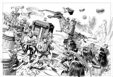 Star Trek vs Dr. Who by mikemayhew