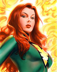 Jean Grey Phoenix Commission by mikemayhew