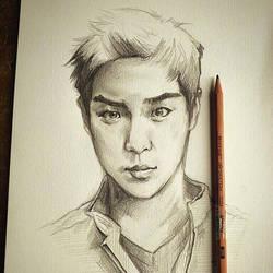 korean boy sketch by JeZoNe
