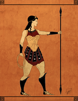 Classical Greek Wonder Woman by jadenwithwings