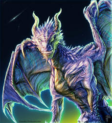 Galactic Night Dragon by Decadia