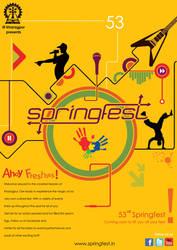 Springfest Freshers Poster by avikdey