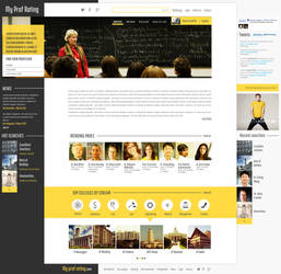 MyProfRating Homepage by avikdey