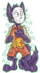 Popee the performer: Kedamono in a waistcoat by KyrieCurry
