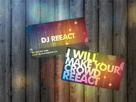 DJ Business Cards by fiyah-gfx