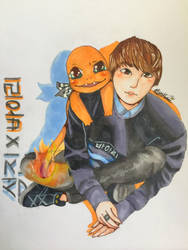 Seokjin X Charmander || BTS X Pokemon by AzuraRosethorn