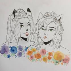 Flowers and Girls || TMNT by AzuraRosethorn