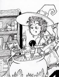 Inktober witch 22 by culdesackidz