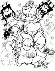 Inktober ShyGuy Assassins 25 by culdesackidz