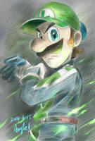 Luigi Death Stare by Angle-007