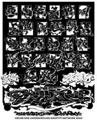 Donated Alphabet Print version by jerryhazard