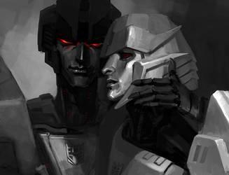 Tyrant and Traitor 2.0 (Megatron vs Starscream) by Naihaan
