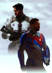Human Optimus and Megatron (Killmonger - Tchalla) by Naihaan