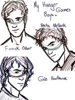 My Hunger Games Boys by ifroggirl