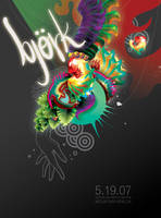 Bjork Poster by paperboogie