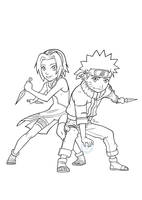 Naruto and Sakura by Lord-Dragon-Phoenix