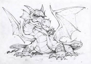 Dragon and Dwarf by Lord-Dragon-Phoenix