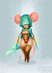 She Mouse Warrior by Lord-Dragon-Phoenix