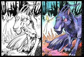 ACEO BloodhoundOmega by m-u-h-a