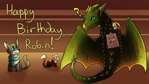 HAPPY BIRTHDAY ROBIN by Petuniabubbles
