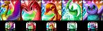 PXR Tokens - Pokemon Prism Set by Petuniabubbles