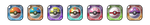 PXR Tokens - Pokeball Set by Petuniabubbles