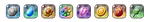 PXR Tokens - Kanto Badge Set by Petuniabubbles