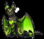 Patreon Request - Neon Dragon by Petuniabubbles
